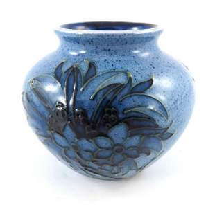 William Moorcroft a small Powder Blue Cornflower vase