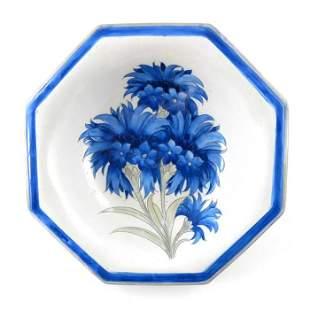 William Moorcroft a matt glazed Late Cornflower bowl