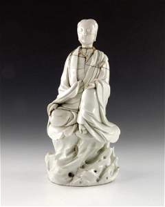 A 17th century Chinese blanc de chine figure of