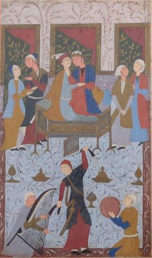 Persian School 18th19th century Court Scene with