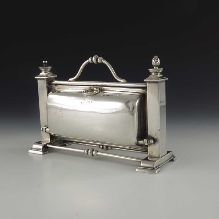 A Victorian silver portable Staniforth patent cigar box