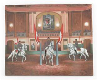 A Vienna style Continental porcelain plaque of the