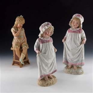 Three Gebruder Heubach bisque figures one modelled as