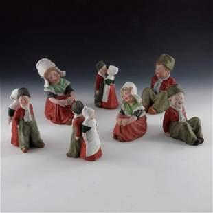 A collection of Gebruder Heubach bisque children