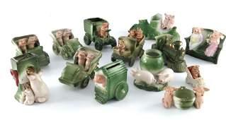 A large collection of German porcelain novelty