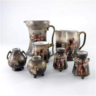 A collection of Royal Bayreuth porcelain decorated