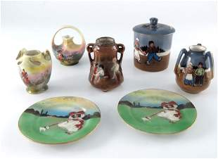 A collection of Royal Bayreuth porcelain patterns