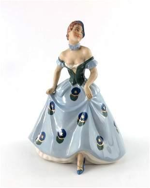 Royal Dux an Art Deco figure of a woman modelled in