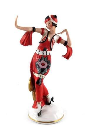 A Hertwig Katzhutte Art Deco figure of a dancer