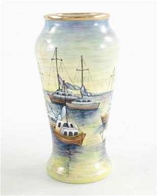 Moorcroft enamel miniature trial vase painted with