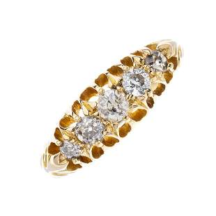 An early 20th century 18ct gold old-cut diamond