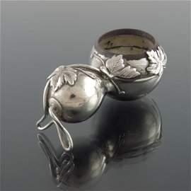 A Japanese silver novelty salt cellar, Asahi Shoten,