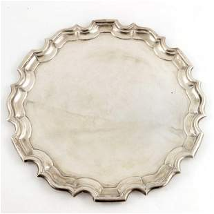 An Edwardian silver tray, Mappin and Webb, London 1908,