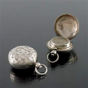 An Edwardian silver sovereign case, Birmingham 1907,