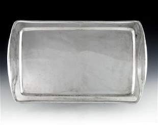W A S Benson, an Arts and Crafts silver plated tray,