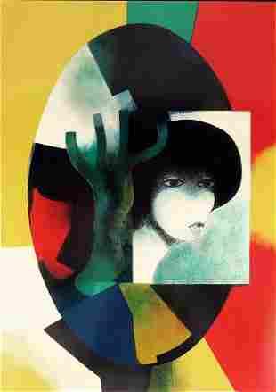 Andre Minaux (French, 1923-1986), Portrait de Femme,