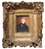 Attributed to Fred G Nash (19th century), Portrait of a