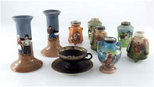 A collection of Royal Bayreuth porcelain, including