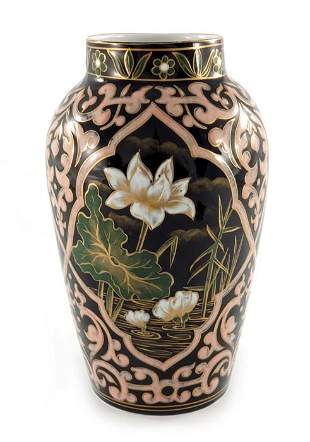 An Aesthetic Movement Limoges enamel or slip decorated