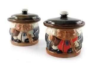 Harry Simeon for Doulton Lambeth, two stoneware Toby