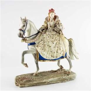 Bernard Winskill for Royal Worcester, an equestrian