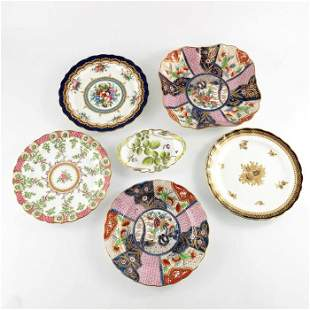 Four Royal Worcester historical design plates and two