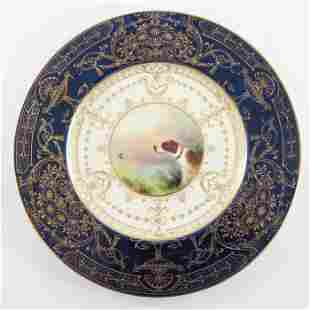 A Royal Worcester painted cabinet plate, 1934, the