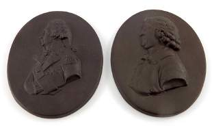 Two Wedgwood style portrait plaques, Nelson and Josiah