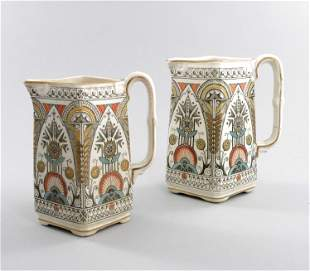 Christopher Dresser for Old Hall, a graduated pair of