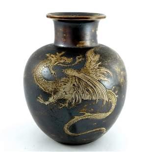 Edwin Martin for Martin Brothers, a stoneware vase,