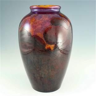 William Moorcroft, a large Flambe Landscape vase, 1926,
