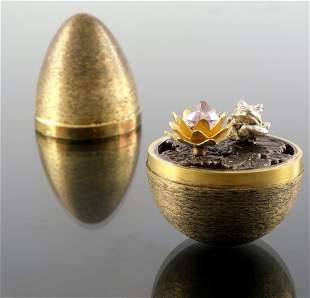 Stuart Devlin, a novelty silver gilt surprise egg,
