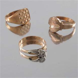An 18ct gold diamond single-stone ring, together with