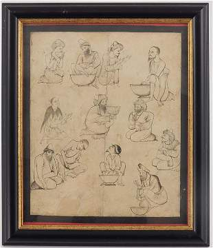 Indian Mughal/Persian School (18th/19th century), Chefs