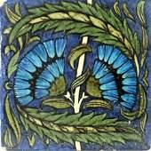 William De Morgan, a large Fan tile, cir