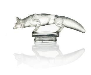 Rene Lalique, a Renard glass car mascot, model 118