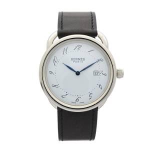 Hermes, a stainless steel Arceau wrist w