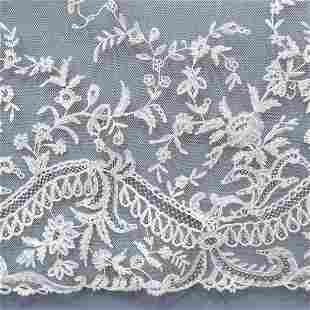 Antique Lace: A deep flounce of late 19t