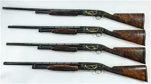 Angelo Bee Engraved Winchester Model 12 Shotgun Set