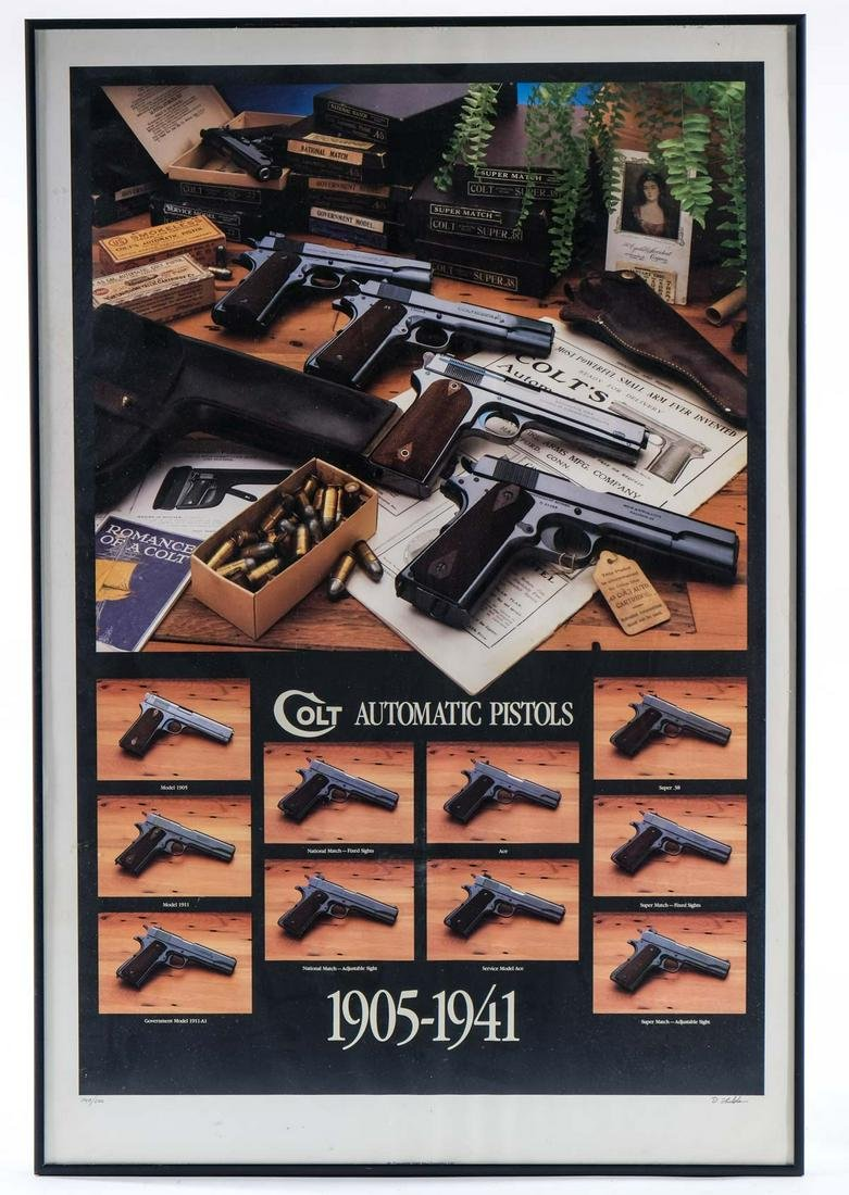 Colt Automatic Pistols Poster, Framed