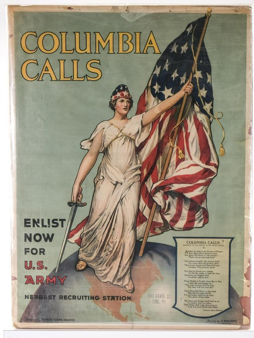 Columbia Calls! WWI Recruiting Poster