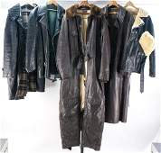 Leather Jackets Coat Military Flight Suit