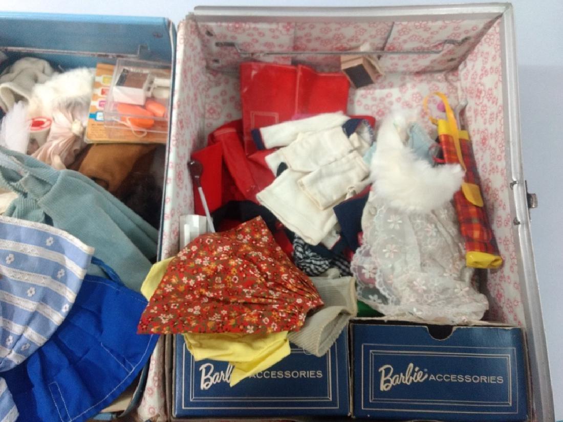 Vtg Barbie Case w/ Dolls & Clothes - 2