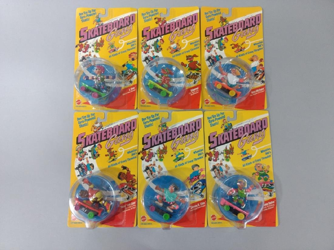 6pc Vtg Mattel Skateboard Gang Set NIP