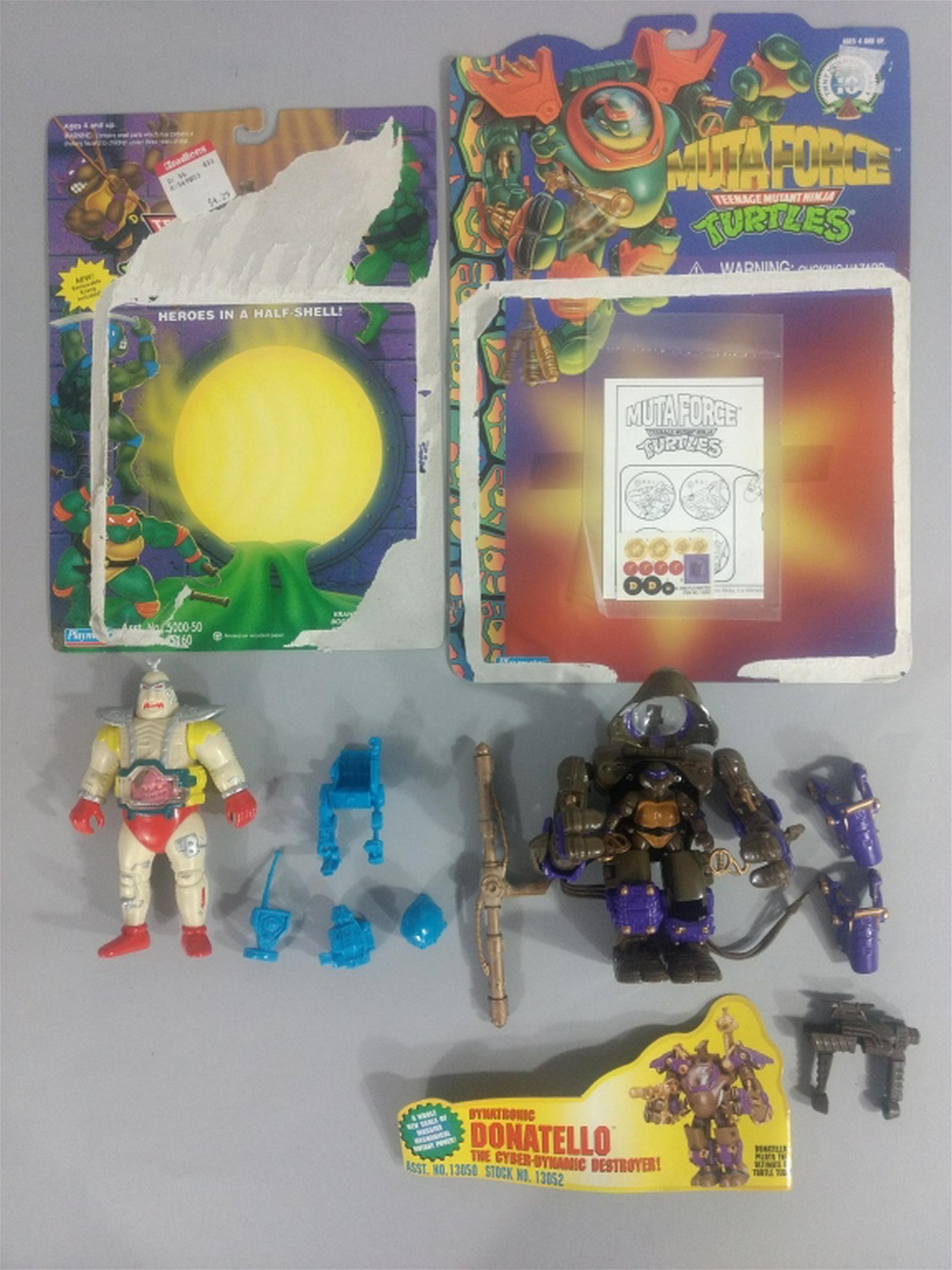 Vtg Ninja Turtles TMNT Mutaforce Don & Android