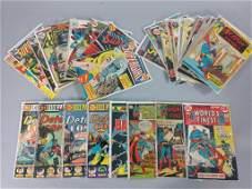Bronze Age DC Comic Lot w/ Batman & Superman
