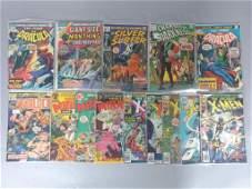 14pc Bronze Age Marvel & DC Comics w/ X-Men