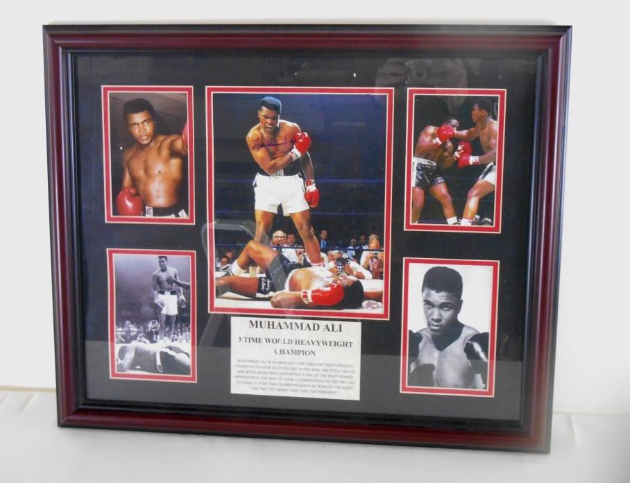 Muhammad Ali Signed Framed Photo Display
