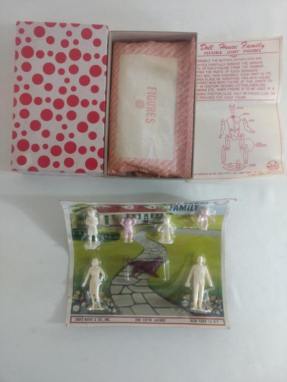 1950's & 1960's Marx Doll House Family Sets