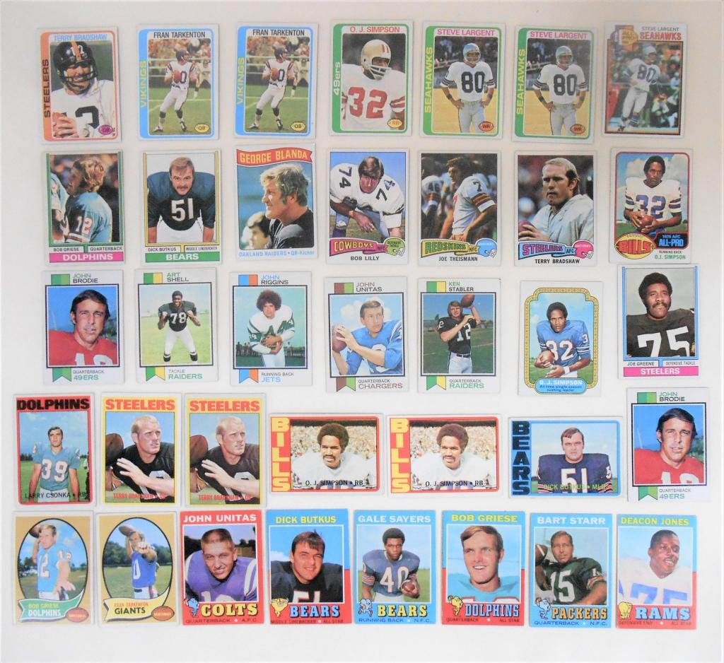 1970's Hall of Famer Football Cards